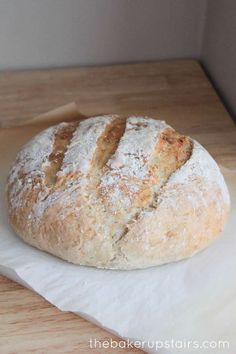 I am a huge bread lover, and would prefer a piece of fresh-baked bread to pretty much anything else... even dessert! I've been experimenting with bread recipes a lot during the last year, and have found a few fail-safe recipe that always turn out well. This quick and easy crusty artisan bread is one of my favorites! It's pretty simple.