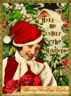 'Under The Mistletoe'© Beth Todd 2015 - All Rights Reserved Created with Tumble Fish Studio's 'Winter & Holiday Journal Words'@ MischiefCircus.com. A digital image kit for your art, collage, mixed media art and scrapbooking. #photomanipulation #digital #art #scrapbook #collage #artjournaling #atc