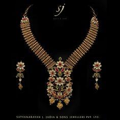 """-""""Hirakanthi Belt Dual Side Wearable Necklace Earrings""""- www.sjjadia.com"""
