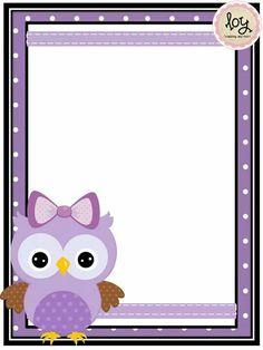 Te invito a mi cumple Cute Owl Cartoon, Ladybug Cartoon, Printable Lined Paper, Free Printable Stationery, Frame Border Design, Page Borders Design, Owl Theme Classroom, Owl Books, Framed Wallpaper