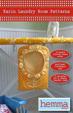 Karin Laundry Room Patterns by HemmaDesignPatterns on Etsy, $12.95
