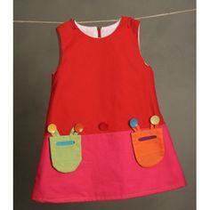 Poplin dress with mo