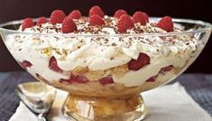 Browse through our collection of gorgeous trifle recipes. Hailing from Britain, the trifle is a much-loved Christmas dessert usually made with sponge soaked in sherry or fruit juice and layered with various combinations of fruit, cream or custard. Christmas Trifle, Christmas Desserts, Christmas Recipes, Christmas Ideas, Christmas Cooking, Merry Christmas, English Desserts, Italian Desserts, Italian Recipes