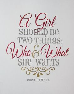 A Girl Should Be Coco Chanel vintage inspired by minglewoodstudios, $22.00