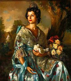 Francisco Ribera Gómez was a Spanish painter, best known for his portraits and prints of women. Spanish Painters, Spanish Artists, Smart Art, Classical Art, Renaissance Art, Illustrations, Beautiful Paintings, Belle Photo, Figurative Art