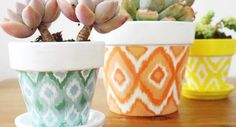 All these easy pot painting ideas and designs for beginners are a true inspiration and help you re-create beautifully crafted hand-painted pots. Painted Clay Pots, Hand Painted, Pottery Painting Ideas Easy, Paint Garden Pots, Beginner Pottery, Terracotta Plant Pots, Flower Pots, Diy Flower, Easy Paintings