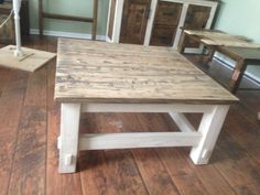Rustic Coffee Table by ElWoodWork on Etsy https://www.etsy.com/listing/287788143/rustic-coffee-table