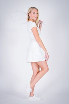Yaffa Handle Hider Short Sleeve Tee White.   Exclusively from Yaffa.  Tennis Activewear. Tennis Whites, Tennis Dress, Outdoor Workouts, Golf Outfit, Short Skirts, Short Sleeve Tee, Cap Sleeves, Active Wear, White Dress