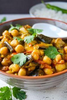 Auberginen-Kichererbsen-Curry