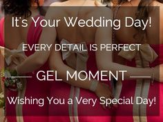 Great product to give you the perfect gel manicure and pedicure for you, your wedding party, your family at a fraction of the cost and no time at all. Complete manicure can be done in 5-10 minutes and your nails are dry.  Check out www.bestwestnails.gelmoment.com