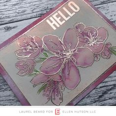 A Pink Champagne Hello - Simply Cardmaking with Laurel Beard Altenew Cards, Stampin Up Cards, Happy Birthday Bouquet, Embossed Cards, Beautiful Handmade Cards, Friendship Cards, Card Making Techniques, Pink Champagne, Watercolor Cards