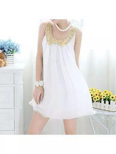 Vestido Branco com Paetê