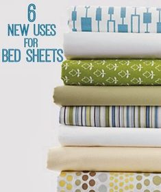 New Uses for Bed Sheets | www.inspirationformoms.com #newusesforthings #bedsheets