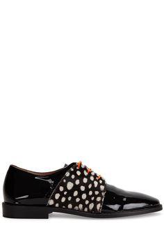 Rogues black patent leather Derby shoes - Harvey Nichols
