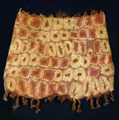 Africa | Woman's skirt from the Dida people of the Ivory Caost | 20th century | Tie dyed raffia (African palm leaf) fiber