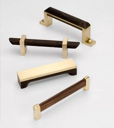 DLV's unique new line of Brass and Wenge hardware (also available in nickel and wenge)