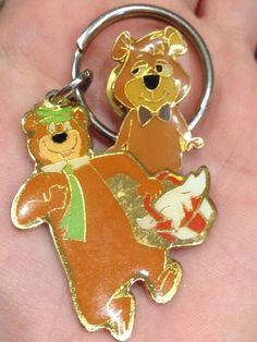RARE 1988 Boo Boo Bear Amp Yogi HB Hanna Barbera Pin Amp Keychain Lot Set | eBay
