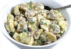 4 SP Sensational Loaded Ranch Potato Salad Made Skinny (hot or cold) with Weight Watchers Points Weight Watchers Points, Weight Watchers Salad, Ranch Potato Salad, Ranch Potatoes, Mashed Potatoes, Side Recipes, Ww Recipes, Healthy Recipes, Salad Recipes