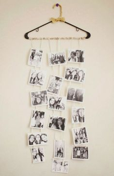 a cute DIY photo collage that my friend made for my birthday (: - DIY Deko Diy Photo, Photo Ideas, Picture Ideas, Photo Art, Youth Rooms, Decoration Photo, Photo Displays, Decor Room, Home Decor
