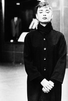 "Audrey Hepburn photographed by Dennis Stock on Wall Street during the filming of ""Sabrina"", 1954."
