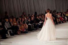 New Arrival 2014 Elie Saab Elegant Runway White NudeTulle Scoop tank Embroidery Long Strap wedding dresses Celebrity Dresses 20131010 TK143