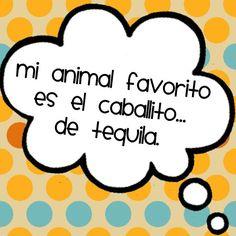 Mi animal favorito: el caballito... de tequila jiji