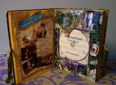 Altered book. This time the book plays a CD cover role. A present for a friend ..CD with summer island videos and good old music like Benny Goodman, Lester Young, Artie Shaw, Lee Marvin...