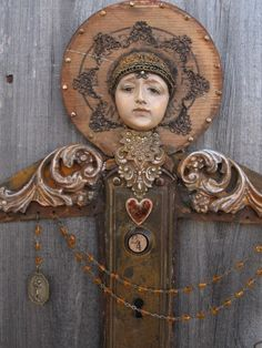 Salvage Angel mixed media assemblage art doll by OhMyGypsySoul, $265.00