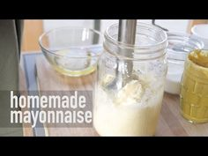 ▶ Immersion Blender Mayonnaise Recipe (Healthy, Paleo, Soy-Free)! Fast + Easy in less than 1 Minute - YouTube