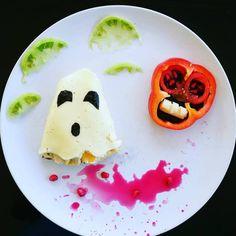 ΒΟΟ! #HALLOWEEN #foodart #pickyeaters #FOIVIGELLER #DONKEYANDTHECARROT #funnyfood #CUTEFOOD