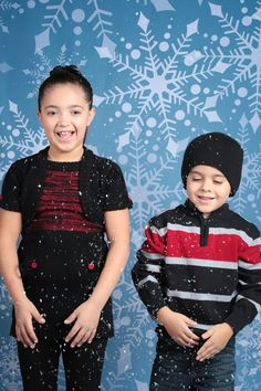 Gray Snowflake Printed Backdrop from Backdrop Express. Throw some confetti or glitter for a snowy feel to your studio photos!