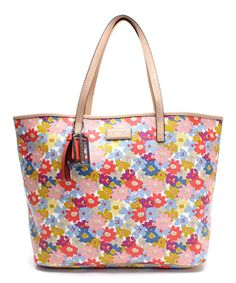 Look what I found on #zulily! Pink & Purple Floral Metro Tote #zulilyfinds