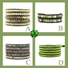 Looking for something GREEN for St. Patrick's Day? Try one of Chan Luu's bracelets.