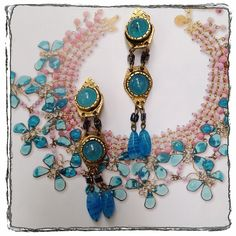 #vintage Italian glass long earrings. #jewelry #fashion #style #vintagejewelry #summer #classic