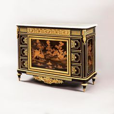 date unspecified A MAGNIFICENT LOUIS XVI STYLE COMMODE FIRMLY ATTRIBUTED TO HENRY DASSON OF PARIS Henry Dasson (1825 - 1896)