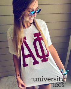 always reppin | Alpha Phi | Made by University Tees | universitytees.com
