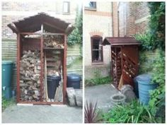 Log store made from six pallets