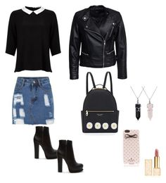 """"""":)"""" by chlobug77 on Polyvore featuring Lipsy, Sisters Point, Forever 21, Henri Bendel, Kate Spade, Accessorize, Bling Jewelry and Tory Burch"""