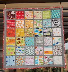 I Spy Quilt. I like how each square is separated.