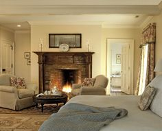 34 Awesome Master Bedroom Fireplace , Create your own collection of things you need to get shown in your home. You have your home beautifully staged. If your home feels like home, it's not. Bedroom Fireplace, Fireplace Design, Gas Fireplace, Fireplace Pictures, Architectural Elements, Nook, Outdoor Spaces, Small Spaces, Master Bedroom