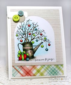 Simple Joys stamp set by Power Poppy, card design by Cindy Lawrence.