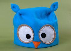 Cleverly Wise Owl Fleece Hat (Children)