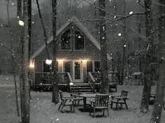Image result for cabin firewood winter