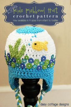 Make an adorable fishbowl hat from this FREE! crochet pattern. Creative and unique, it's sure to get oohs and ahs from all who see it! 4 sizes included from newborn through toddler.
