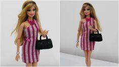 Como Fazer Vestido de Um Ombro Só para Barbie