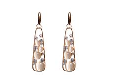 high gold look fashion earrings