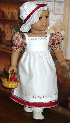 1812 red check 1 by Sugarloaf Doll Clothes, via Flickr