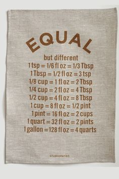 equal tea towel// i wish i had a budget that permitted a frivolous investment in a cute tea towel collection.