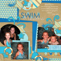 Kit: Ready, Set, Swim by B2N2 Scraps and Gettin' Scrappy with Britt  Template: Our Life In A Year: September Templates by AKDesigns