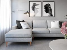 New Living Room Sofa Sectional Lamps 54 Ideas Living Room White, Living Room Colors, Living Room Grey, Small Living Rooms, Living Room Modern, Living Room Sofa, Living Room Designs, Living Spaces, Small Bedrooms